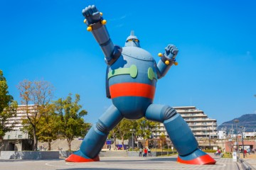 KOBE, JAPAN - OCTOBER 26: Gigantor Robot in Kobe, Japan on October 26, 2014. Built to commemorate the 15th anniversary of the Great Hanshin earthquake, symbolises Kobe's revival and as a guardian from future disasters