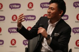 Hiroshi Mikitani, chairman and chief executive officer of Rakuten Inc. speaks during a press conference announcing the earning results for Q4 of fiscal year 2013 on February 14, 2014 in Tokyo, Japan. *** Local Caption *** Hiroshi Mikitani