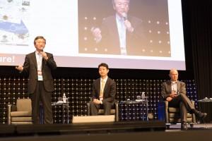 Professor Kenzo Nonami of Chiba University (left)