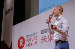 Alex Stephany addressing the audience at the Rakuten Future Forum Taiwan