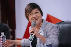 Former Democratic Progressive Party spokeswomen, Chia-Ching Hsu