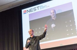 Andy Rubin delivers a keynote speech at NEST 2016 on robots and AI
