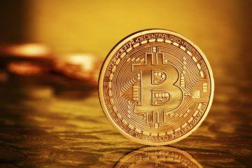 Prague, Czech Republic - February 12, 2014: Golden Bitcoins .Photo (new virtual money )