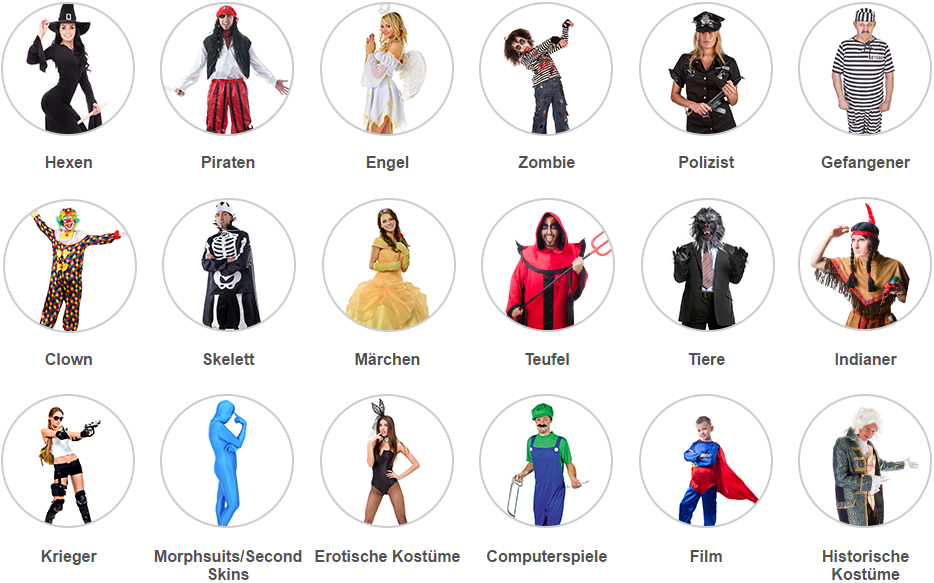 Rakuten.de's Halloween selection favors the classics