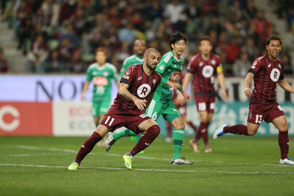 Vissel Kobe's Leandro, the joint league leading scorer, spearheads the team's creative style