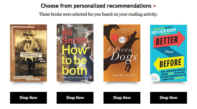 Big data is enabling Kobo to utilize machine learning to improve personalized recommendations for users.