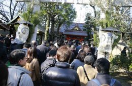 People visit Atago Shrine in Tokyo to offer traditional prayers for the New Year.