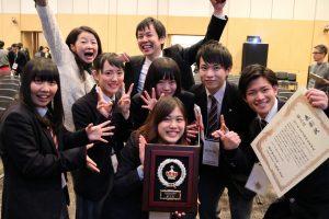 Kobayashi's team after placing 3rd.