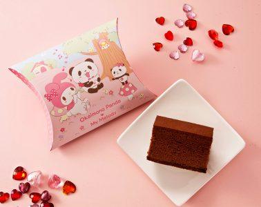 長崎心泉堂の「プレミアムチョコカステラ」は、「お買いものパンダ」と「マイメロディ」がコラボした楽天市場限定のスペシャルパッケージ