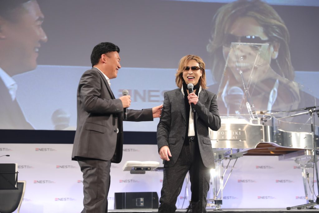 """Behind each genius there's a lot of painstaking effort and hard work,"" Mickey Mikitani explained in reference to Yoshiki."