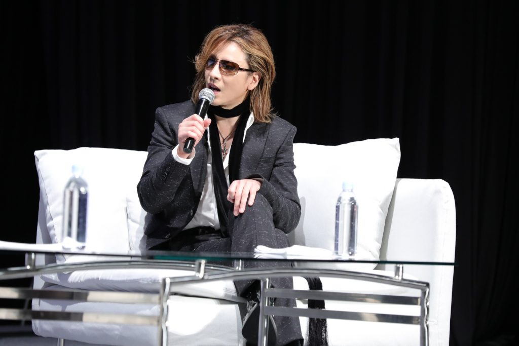 """Japanese culture is becoming even more popular around the world. I can taste Japanese food almost everywhere,"" Yoshiki said."