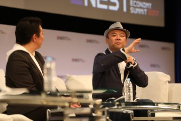 Takashi Inoue and Taizo Son onstage at NEST 2016.
