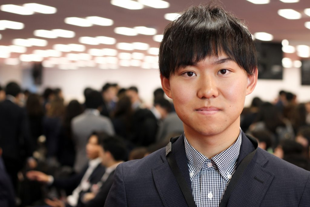 """Keep challenging."" Takuya Fukuda is looking forward to valuable experiences and personal growth while at Rakuten."