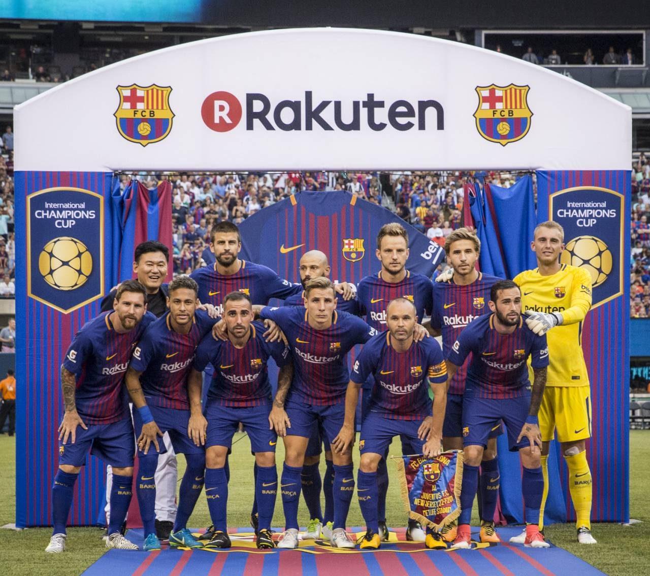 FC Barcelona unveils Rakuten jerseys for stylish win over Juventus
