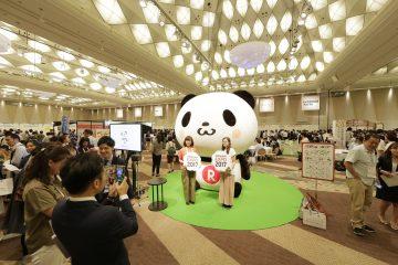 「楽天EXPO」会場には、「お買いものパンダ」の姿も