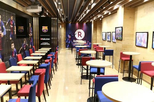 渋谷の「楽天カフェ」に「FCバルセロナフロア」がオープン!