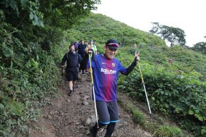 "Rakuten executives, led by CEO Hiroshi ""Mickey"" Mikitani, battled the elements on their climb up Mt. Tanigawa"