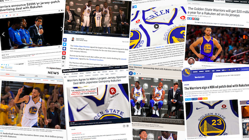How the world's media reacted to Rakuten's partnership with the Golden State Warriors