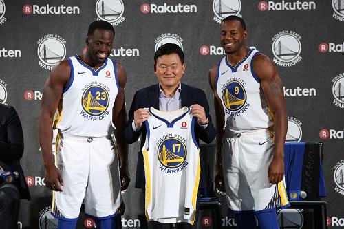 楽天、NBA王者「ウォリアーズ」のパートナーに!
