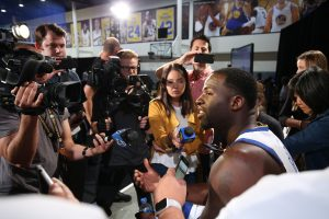 """As we continue to grow the game globally, that's big"" said Warriors All-Star Draymond Green"