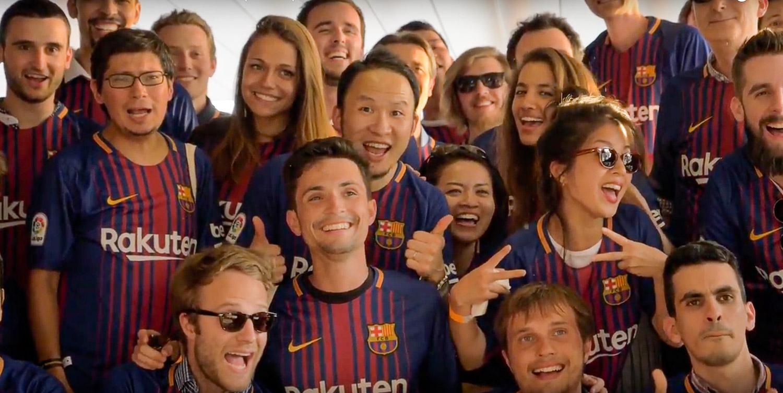 Rakuten celebrates FC Barcelona partnership in Europe