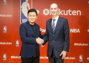 """We're absolutely thrilled to be beginning this relationship with [Rakuten CEO Hiroshi Mikitani] and Rakuten, one of the world's most innovative companies,"" said NBA Commissioner Adam Silver."