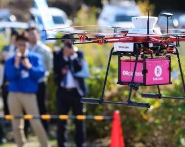 Fried chicken took to the skies over Fukushima Prefecture in Japan this week as Rakuten began drone deliveries of products from Lawson convenience stores.