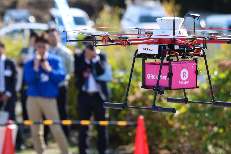 Rakuten Drone makes convenience store deliveries in Fukushima