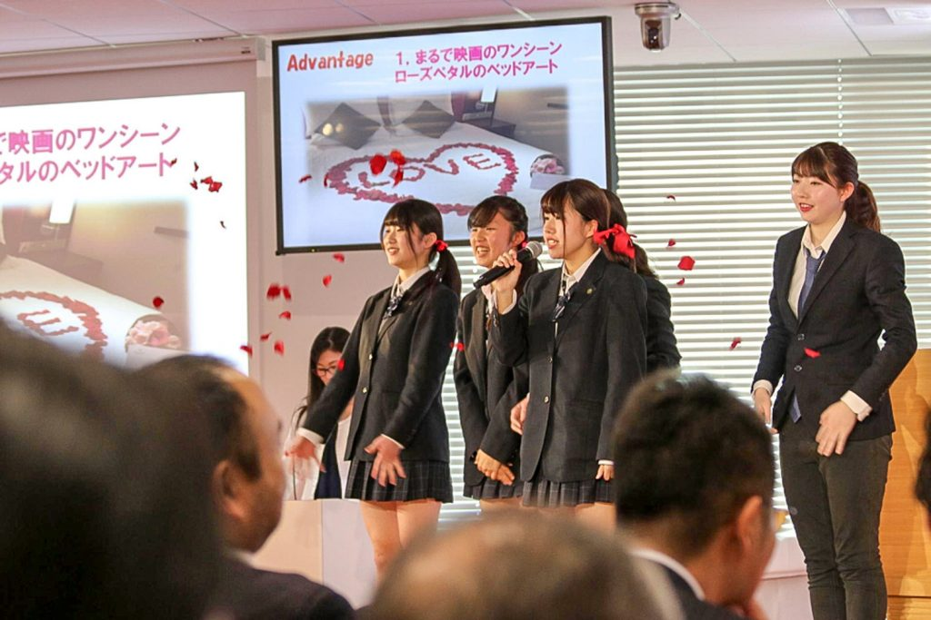 Love was a key element of the presentation from Rakuten Travel category runners-up Kanagawa Prefectural Shoko High School