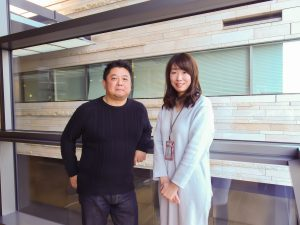 "Rakuten Recipe team members Kazuo Mukaidani and Yuki Uchida. ""We want to give users the recipes they need, when they need them,"" says Mukaidani."