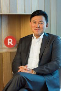 "Rakuten Founder and CEO Hiroshi ""Mickey"" Mikitani bio photo"