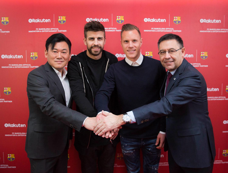 Rakuten and Barca celebrate winning start to partnership at FCB Museum