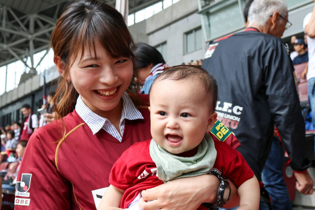 Superfan Erika Maeda was in attendance with her eight-month old son, one of the youngest fans to come out and greet Iniesta before he sets off to join the Spanish team ahead of next month's World Cup in Russia.