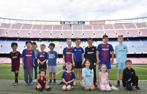 Rakuten brings young football fans to Barcelona to represent SDGs