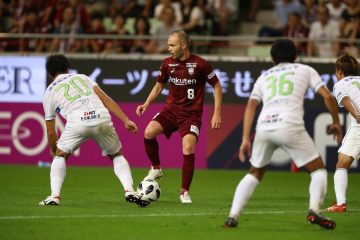 On a hot and humid night at Noevir Stadium in Kobe more than 26,000 fans came out to watch legendary midfielder Andres Iniesta make his Vissel Kobe debut.