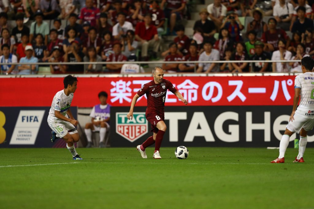 Iniesta made his presence felt in his opening game with Vissel Kobe.