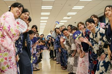The yearly Tanabata event aims to bring together Rakuten Crimson House's diverse employees through a shared celebration of Japanese culture.