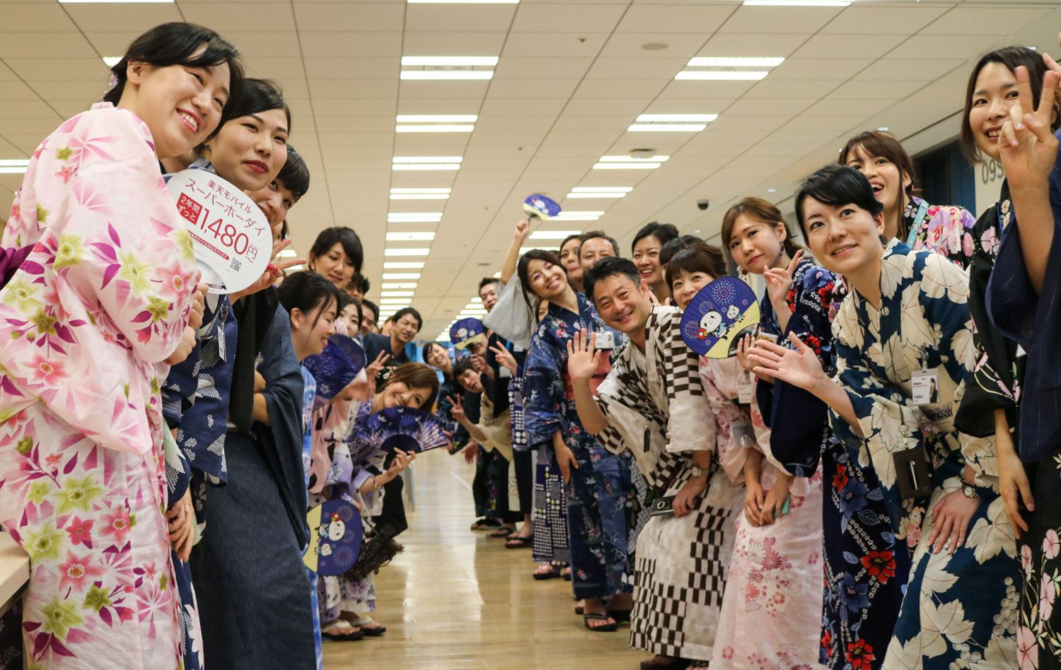 Shaved ice, yukata and drones: Rakuten employees celebrate Tanabata Festival in Tokyo