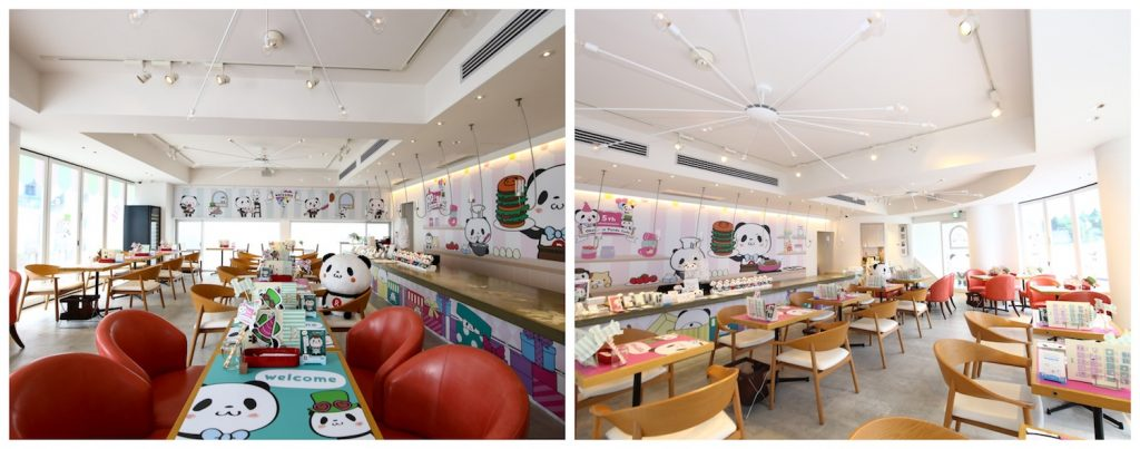 Rakuten's Pop-up Panda cafe features an intensely instagenic interior.