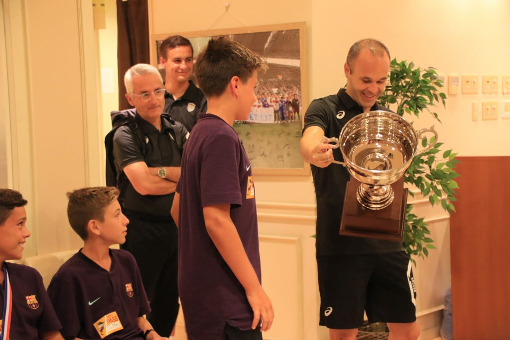 FC Barcelona's La Masia Youth Academy visited Andres Iniesta in Kobe, Japan.
