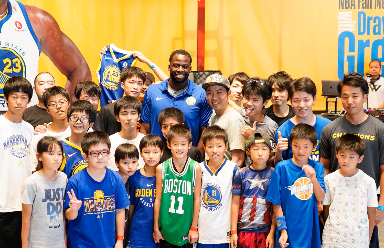 Draymond Green visited Rakuten's Tokyo headquarters, taking part in a very special fan event, as part of a tour facilitated by the NBA and Rakuten TV