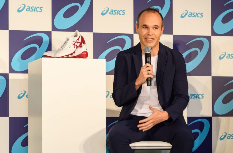 New ASICS brand ambassador Andres Iniesta announces partnership with the Japanese sportswear maker, unveiling his exclusive new football boot in Tokyo.