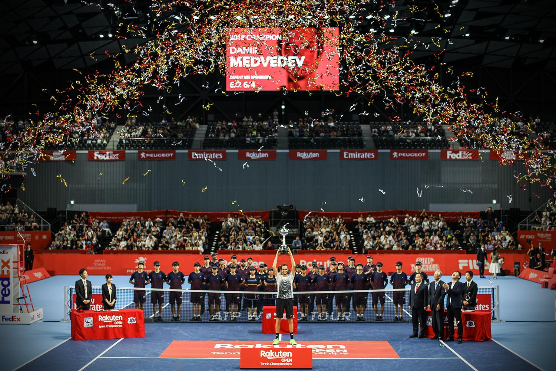 Rising Star Medvedev Powers Past Hometown Hero Nishikori to Claim Rakuten Open Championship