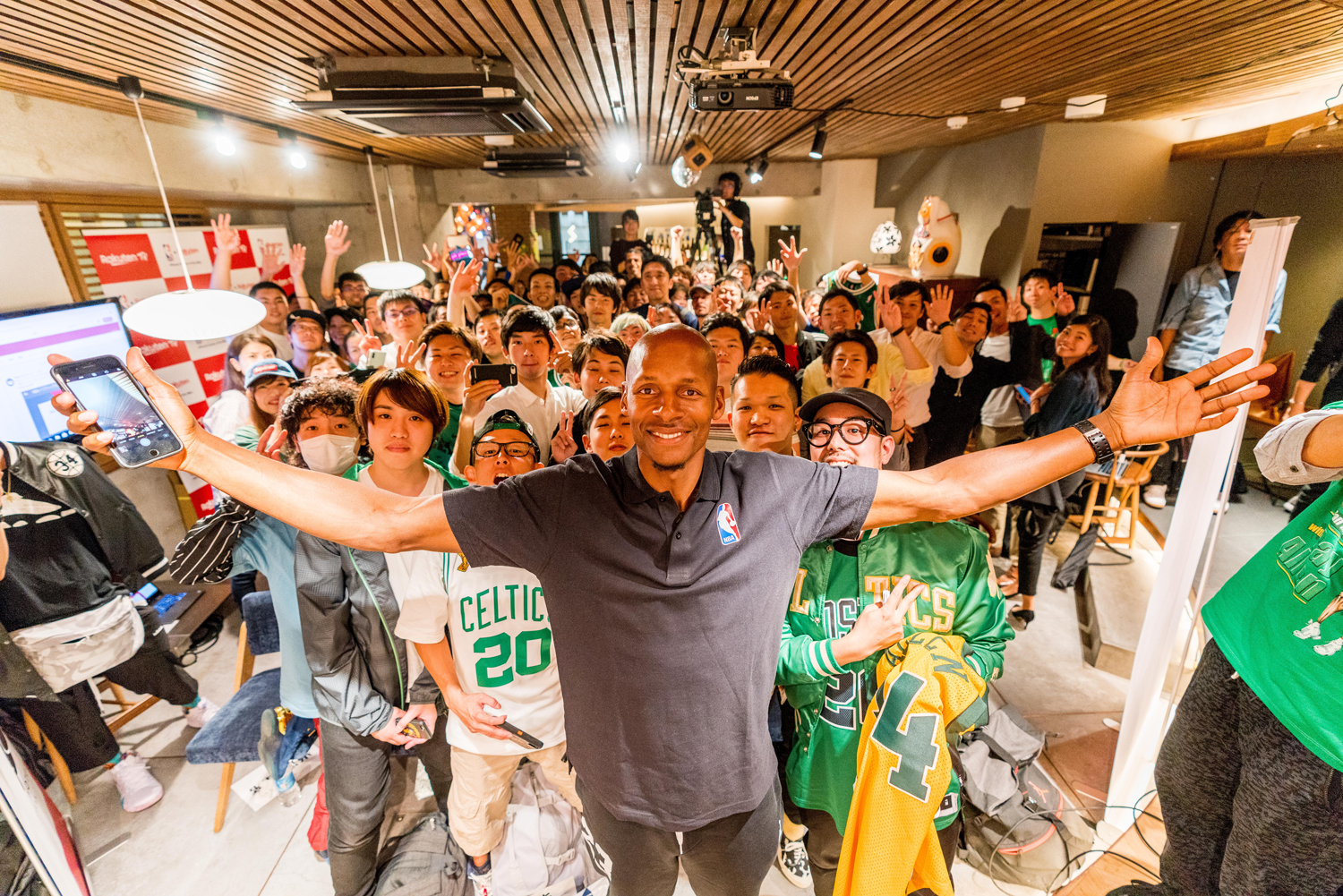 """You guys are the supporters. You're the ones that keep us running up and down the court."" said Allen to fans in Tokyo."