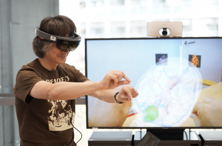 """Surgeons need to understand their patient's anatomy,"" explains Naoji Taniguchi, CEO and CTO of Holoeyes. ""Our body is three-dimensional, so VR is a good way to do that."""