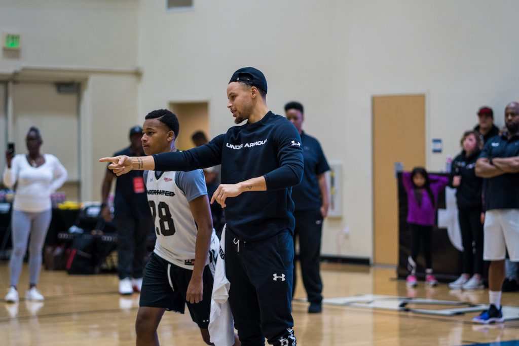 Alongside Curry, players were shown how to approach drills, seeing the entire court and putting themselves in the best position to be effective.
