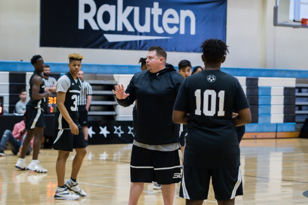 Coach Brandon Payne pushes the players to approach each drill with a purpose. Payne and the staff worked the players through a series of dynamic movement exercises, skills training and competitive scrimmaging.