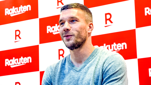 Transforming football and giving back to society: Podolski and Rakuten