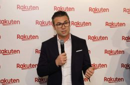 Photo: Rakuten Mobile Network CTO Tareq Amin at the opening of Rakuten's new 5G mobile cloud innovation lab in Tokyo in February 2019.