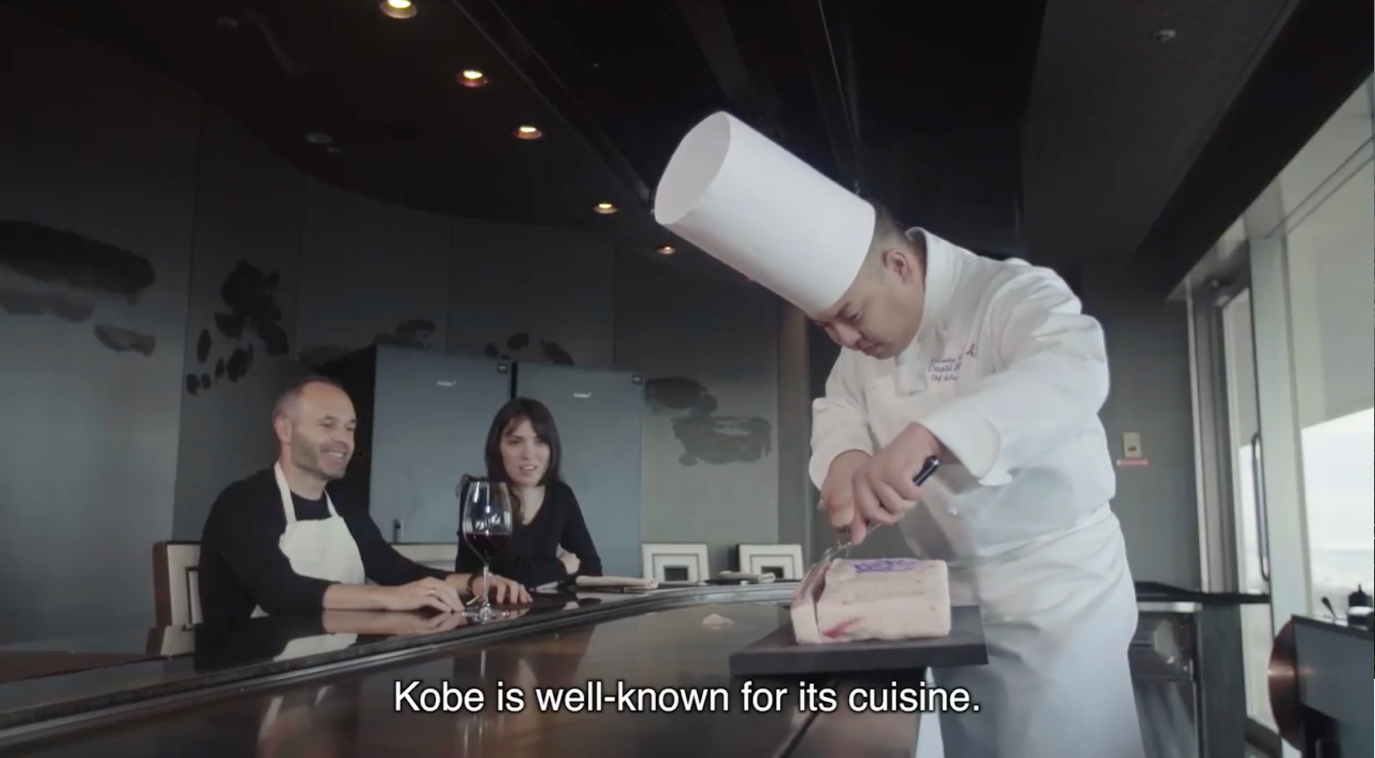Kobe is well-known for its cuisine.